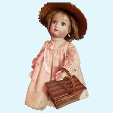 Doll Size Picnic Basket for Doll Display