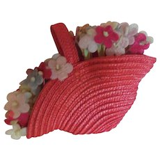 Vintage Flower Basket Purse
