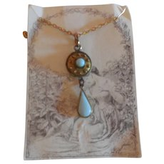 Blue Stone Pendant for French Fashion Doll