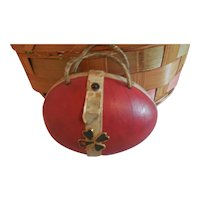 """5"""" Egg Shaped Purse for Antique Doll"""