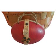 "5"" Egg Shaped Purse for Antique Doll"