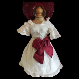 "10"" White Cotton Dress Rohmer Style"