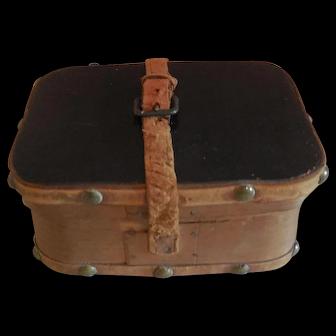 """4"""" Wood Box French Fashion Doll Accessory"""