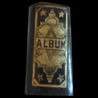 Tiny Photo Album for Antique Doll Display