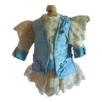 "11"" Dress for Antique Jumeau, Bru, Steiner"
