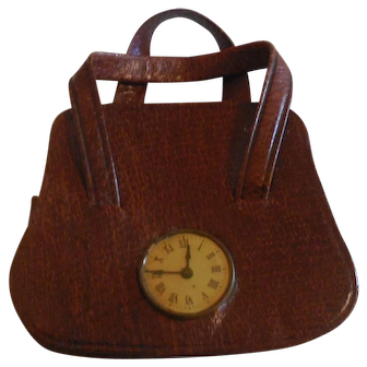 Purse with Watch French Fashion Accessory