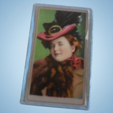 Small Box With Picture and 2 Pair of Doll Earrings