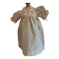 "9 1/2"" Dress for Antique German Doll"