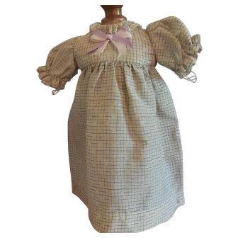 "9 1/2"" Dress for Antique German Doll"