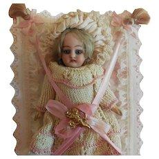 """6 1/2"""" German Doll Displayed in Faux Book w/ Accessories"""
