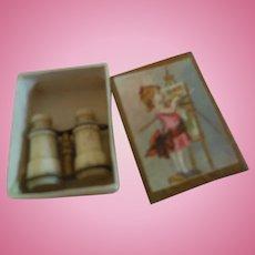 Stanhope Binoculars in Tiny Box w/ Girl Painting