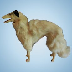 "Large 8 1/2"" Tall French Borzoi Dog Doll Companion"