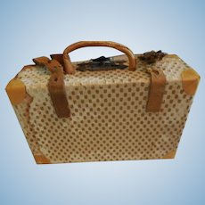 """4"""" Faux Leather Suitcase for Doll Accessory"""