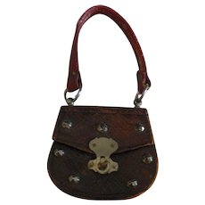 "1 3/4"" French Fashion Purse with Metal Decorations"