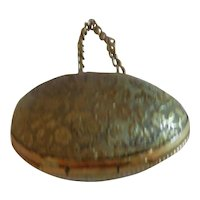 """2"""" Tiny Embossed Metal Doll Size Purse"""