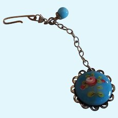 Blue Doll Size Watch with Silver Chain