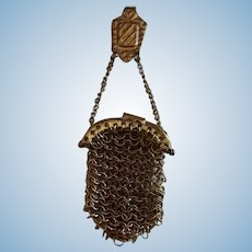 Tiny Vintage Chatelaine Purse for French Fashion or Small Bebe