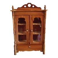"""9"""" Doll Size Cupboard Glass Front"""