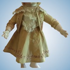 """10"""" 2 Piece Bebe Dress for Antique Doll"""
