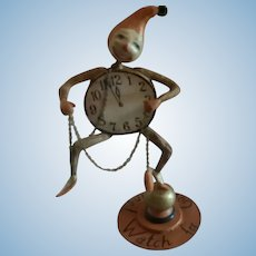 Artist Made Halloween  Clock Character by Allen Cunningham