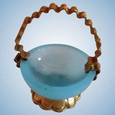 Erhard & Sohne Blue Opaline and Ormolu Basket