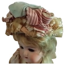 Old Straw Hat for Small French or German Doll