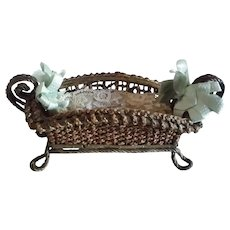"""9"""" Wicker Basket for Doll Bed"""