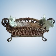 "9"" Wicker Basket for Doll Bed"