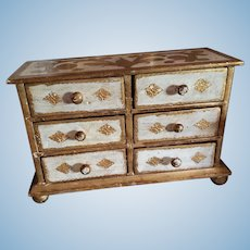 Large Size Florentine Dresser or Jewelry Box for Doll Display