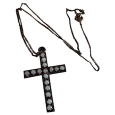 """1 1/2"""" Old Beaded Cross for Larger Doll"""