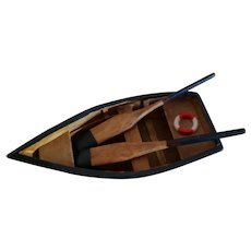 """4"""" Wood Rowboat for Doll Display"""