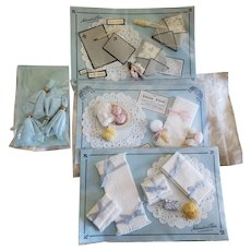 4 Cards of Artist Made Doll Accessories