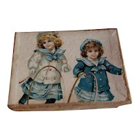 """3 1/2"""" Candy Box with Great Picture"""