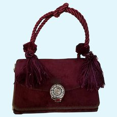 Plum Velvet 2 Sided Purse