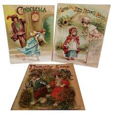 3 Large Antique Raphael Tuck Books
