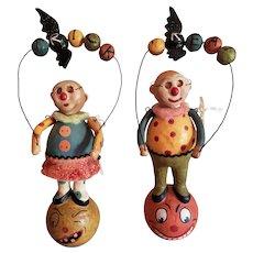 Vintage Silvestri Clay Trick or Treat Figures
