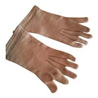 "4 1/2"" Long Stretch Fabric Gloves for Antique French Fashion"