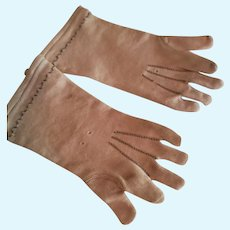 """4 1/2"""" Long Stretch Fabric Gloves for Antique French Fashion"""