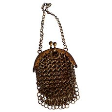 Tiny Little Mesh Metal Purse for Chatelaine