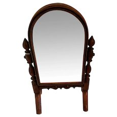 "8"" Standing Mirror for Antique Doll Display"