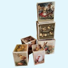Vintage Easter Bethany Lowe Stacking Cubes