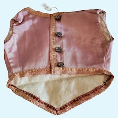 Pink Silky Vest for Doll Costume