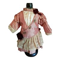 """7 1/2"""" Artist Made Silk and Lace Dress"""