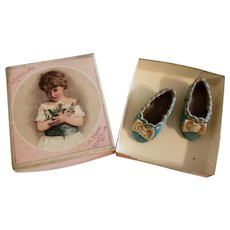 Artist Made Tiny Blue Shoes for All Bisque