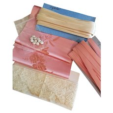 Pink and White Doll Costuming Supplies