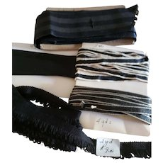 Black Ribbons for Doll Costuming