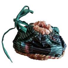 Tiny Basket Purse with Silk Top