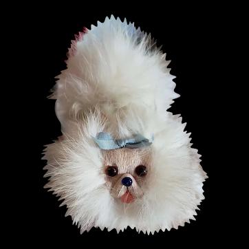 "4"" Furry Pekingese for Doll Display"