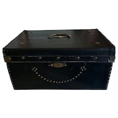 Large Black French Trunk