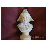 Porcelain Bust of Young Boy with Hat